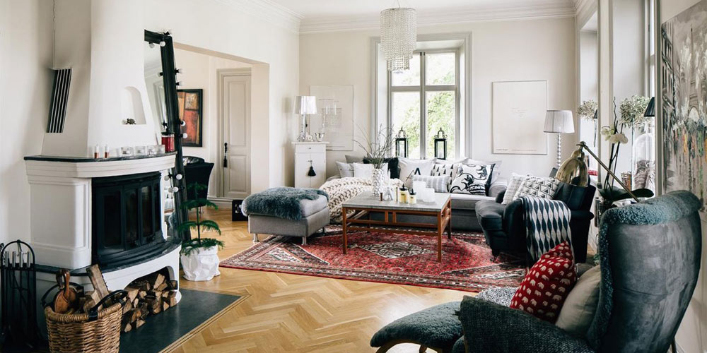Decoration with carpets