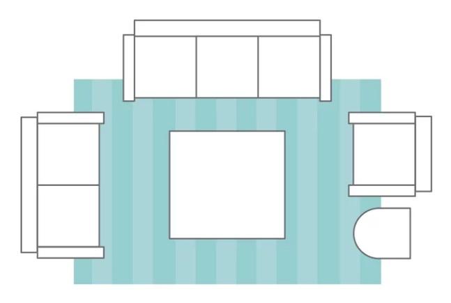 راهنمای انتخاب سایز مناسب فرش برای اتاق نشیمن