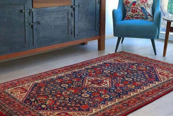 Lacquered carpet in decoration