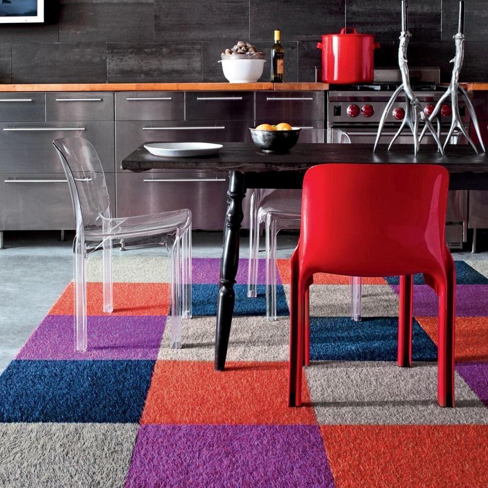 رنگ فرش آشپزخانه - قالیشویی نوین