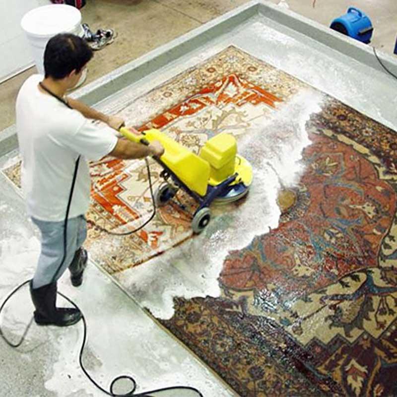 شستن فرش ابریشم در قالیشویی